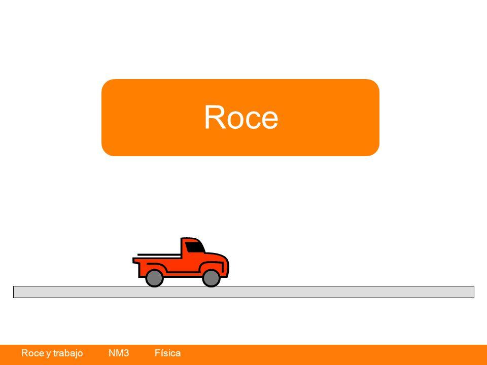 Roce y trabajo NM3 Física Como habrás visto en el ejemplo del experimento, hay una diferencia en la velocidad de desplazamiento que presenta el objeto en las distintas superficies por las cuales se movió.