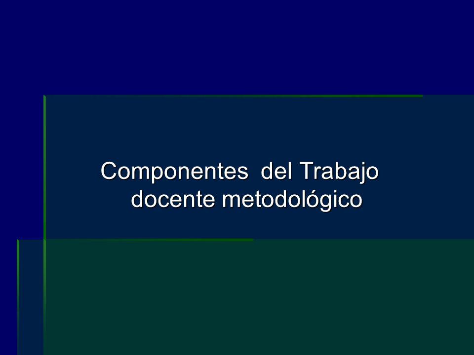 Componentes del Trabajo docente metodológico
