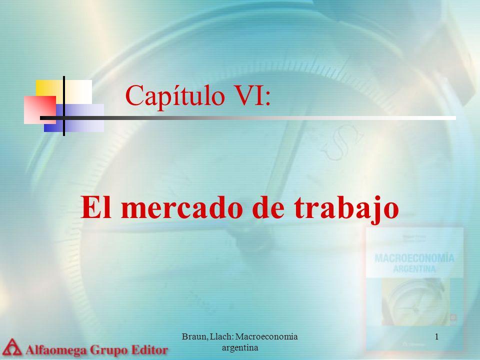 Braun, Llach: Macroeconomia argentina 1 Capítulo VI: El mercado de trabajo