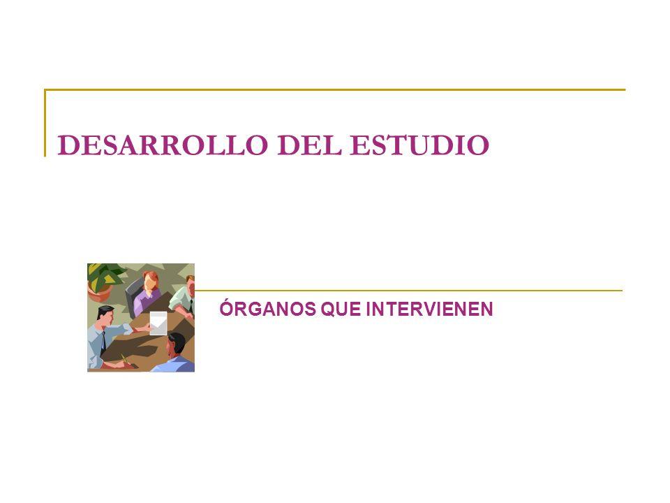 DESARROLLO DEL ESTUDIO ÓRGANOS QUE INTERVIENEN