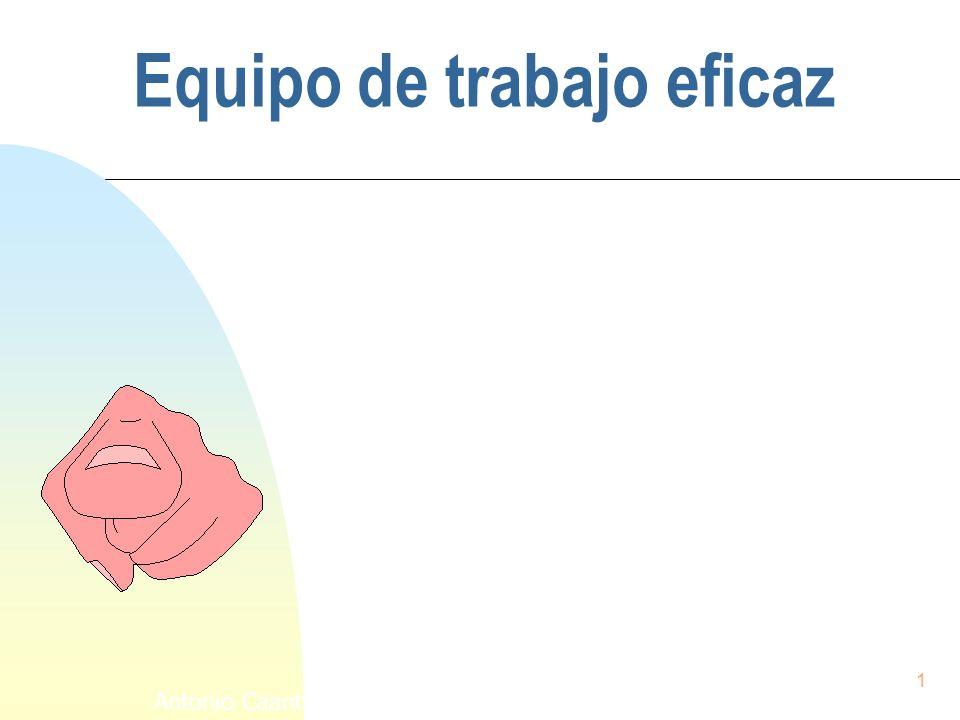 1 Antonio Caanto Moreno Equipo de trabajo eficaz