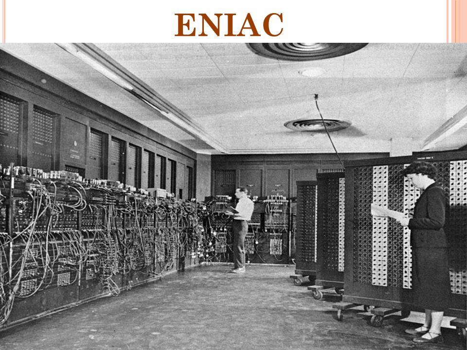 RELE JONH VON NEUMAN 1945 Contribuyó a un nuevo entendimiento de cómo debía organizarse y construirse computadoras practicas. 1945 La sustitución de l