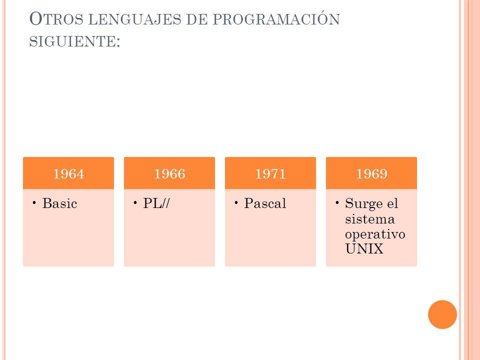 El IBM 360 comercializado a partir de 1965. Durante esta época el software en general y el lenguaje de programación en particular son manejados a trav