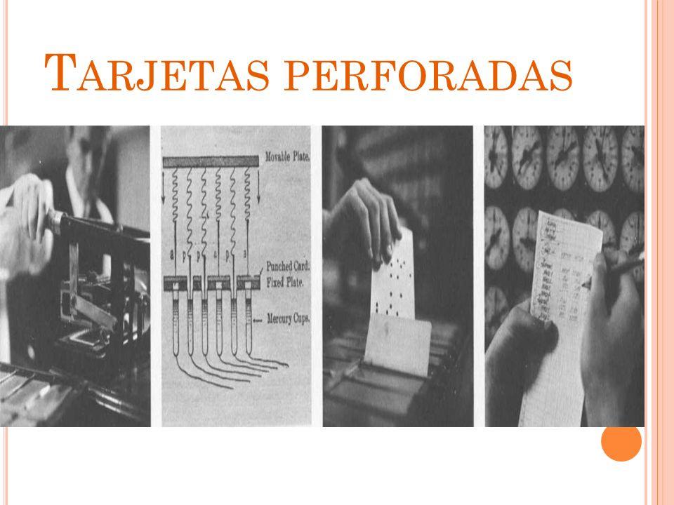 ERA ELECTROMECANICA 1890 Herman Hollerith Inventa una maquina electrónica de tarjetas en la maquina las tarjetas pasaban por un juego de contacto que