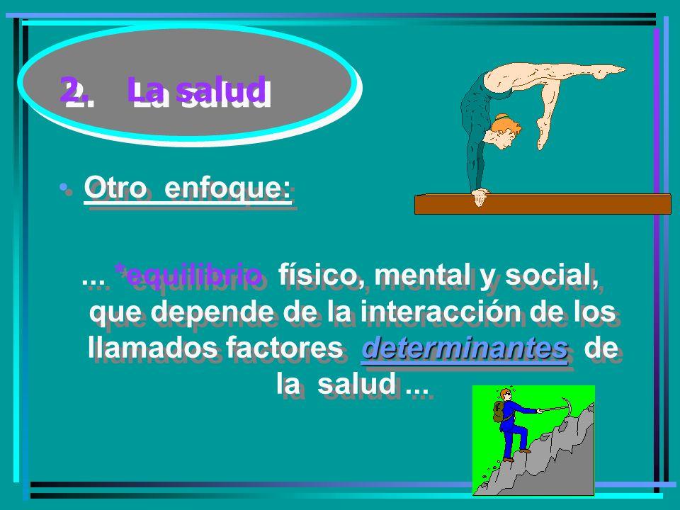 2.La salud Otro enfoque: determinantes...