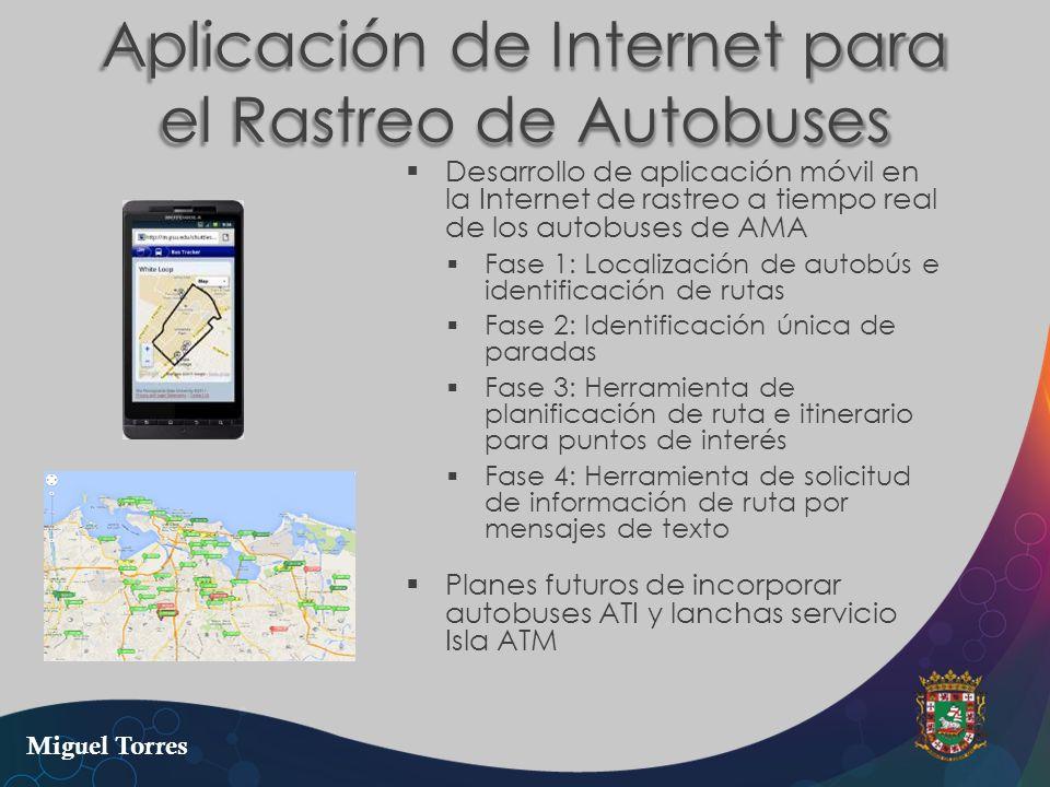 Aplicación de Internet para el Rastreo de Autobuses Desarrollo de aplicación móvil en la Internet de rastreo a tiempo real de los autobuses de AMA Fas