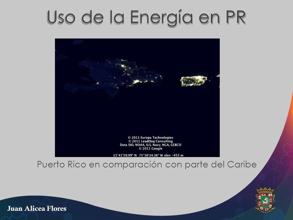 Uso de la Energía en PR Puerto Rico en comparación con parte del Caribe Juan Alicea Flores