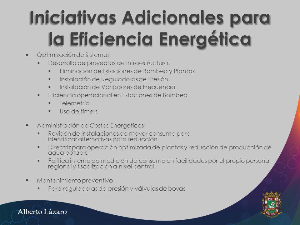 Iniciativas Adicionales para la Eficiencia Energética Optimización de Sistemas Desarrollo de proyectos de Infraestructura: Eliminación de Estaciones d