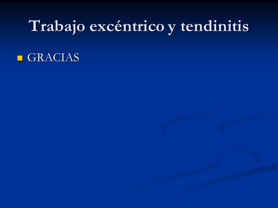 Trabajo excéntrico y tendinitis GRACIAS GRACIAS