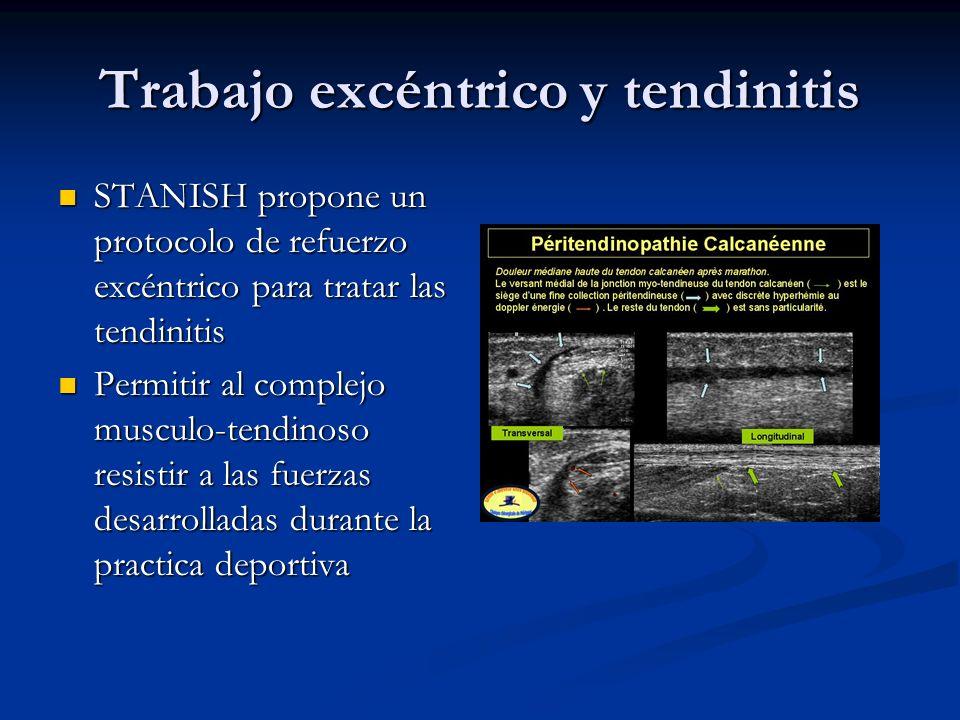 STANISH propone un protocolo de refuerzo excéntrico para tratar las tendinitis STANISH propone un protocolo de refuerzo excéntrico para tratar las ten