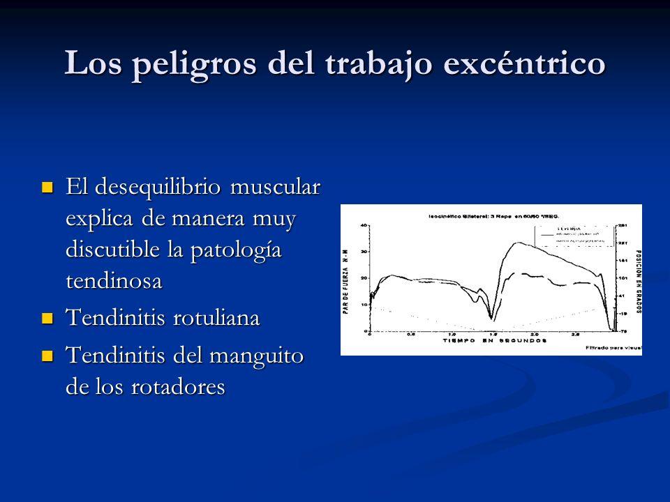 Los peligros del trabajo excéntrico El desequilibrio muscular explica de manera muy discutible la patología tendinosa El desequilibrio muscular explic