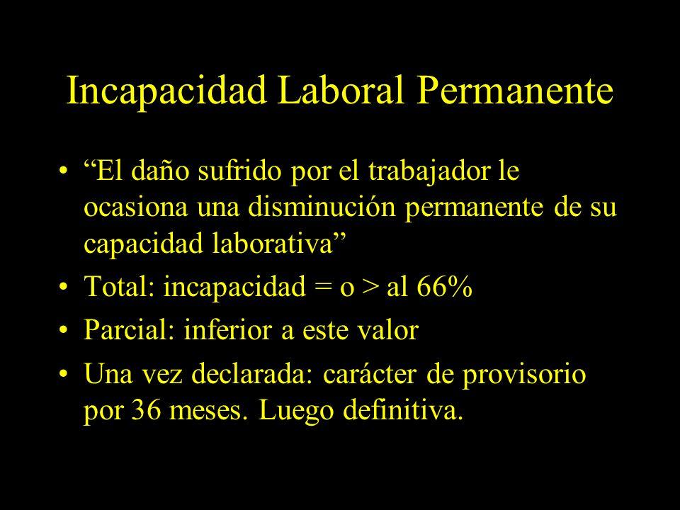 Dra. Graciela A. Aguirre Incapacidad Laboral Permanente El daño sufrido por el trabajador le ocasiona una disminución permanente de su capacidad labor