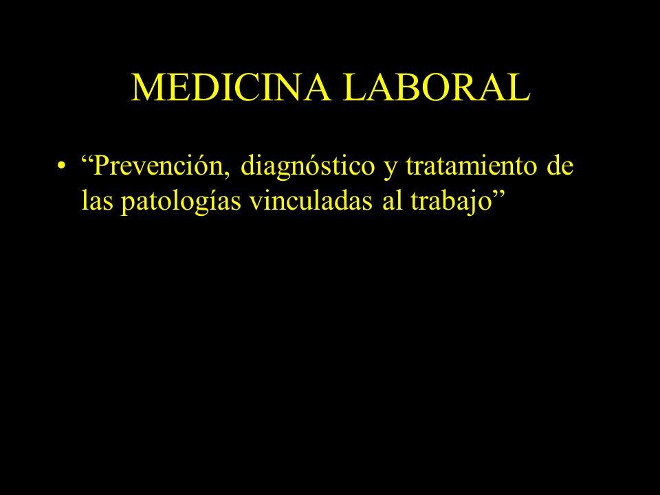 Dra. Graciela A. Aguirre MEDICINA LABORAL Prevención, diagnóstico y tratamiento de las patologías vinculadas al trabajo