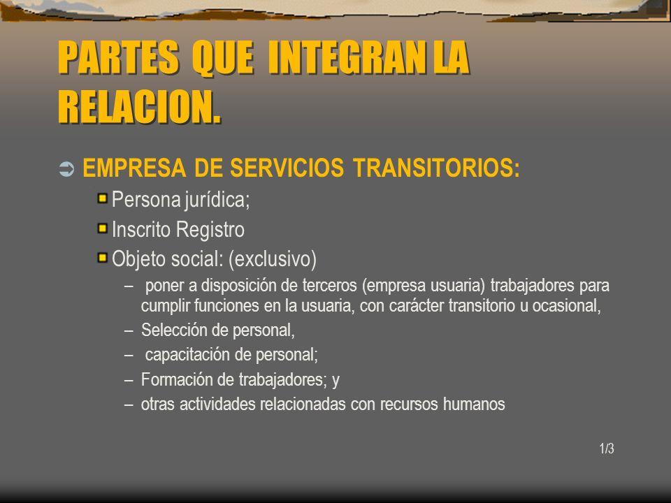 REGISTRO DE INSCRIPCION DE E.S.T.A cargo de la Dirección del Trabajo.