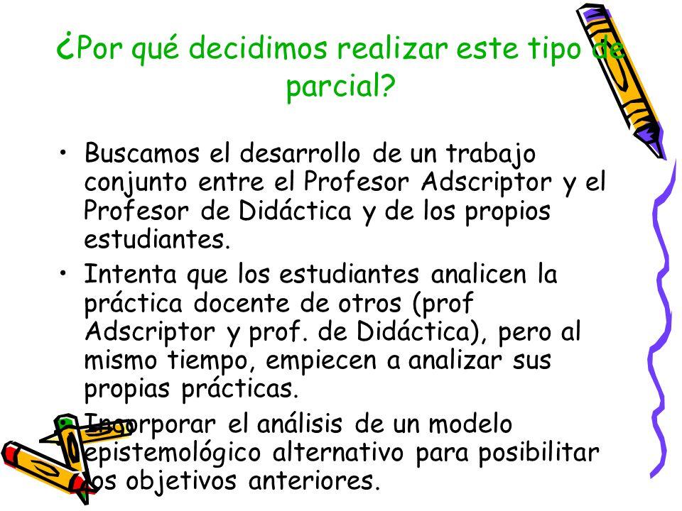 Objetivo: Reconocer y argumentar los supuestos teóricos (didácticos, epistemológicos y sociológicos) subyacentes en el análisis.