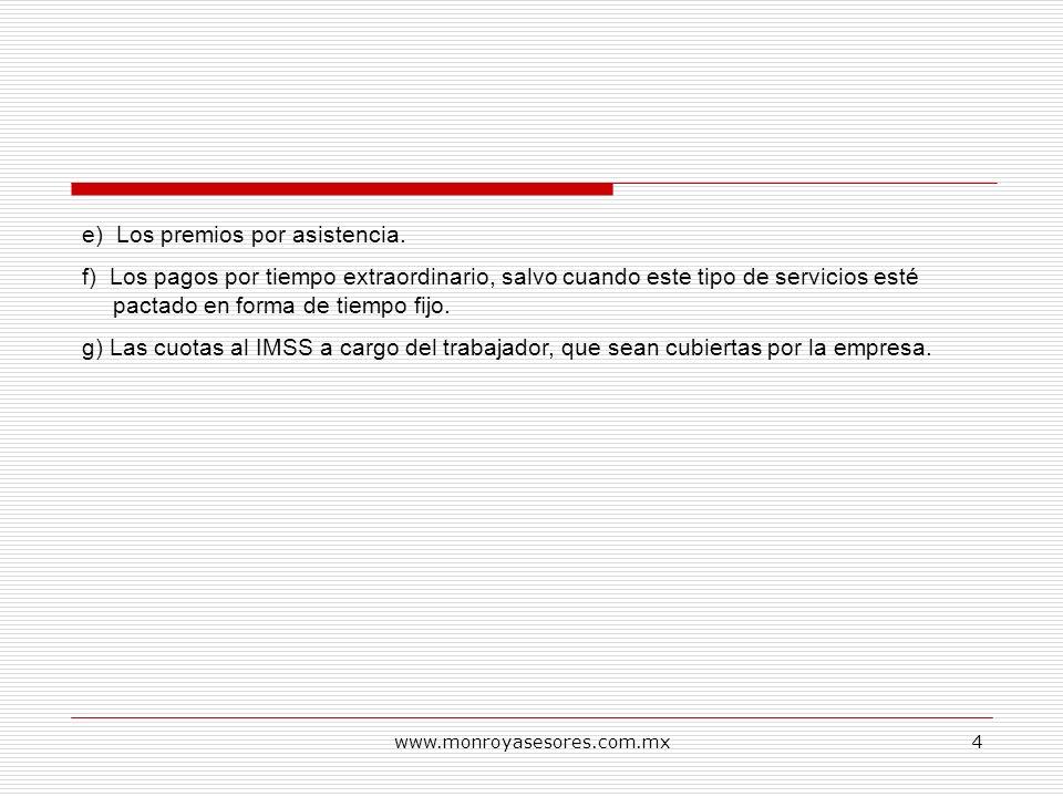 www.monroyasesores.com.mx5 JURISPRUDENCIA RELATIVA AHORRO, NO DEBE CONSIDERARSE COMO PARTE INTEGRAL DEL SALARIO.