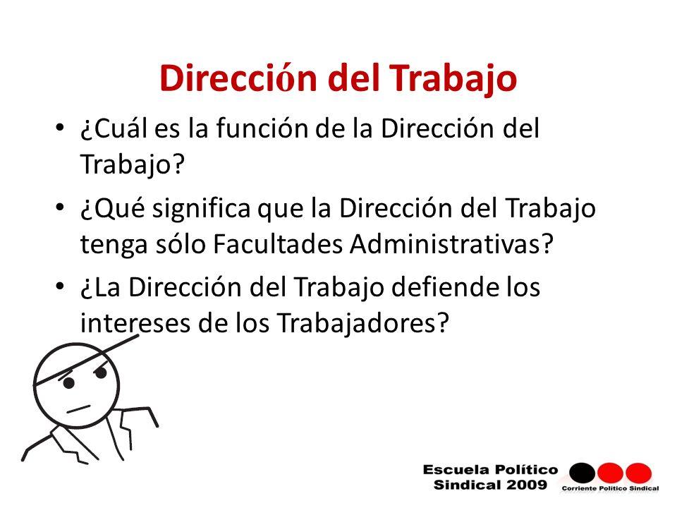 Direcci ó n del Trabajo ¿Cuál es la función de la Dirección del Trabajo.