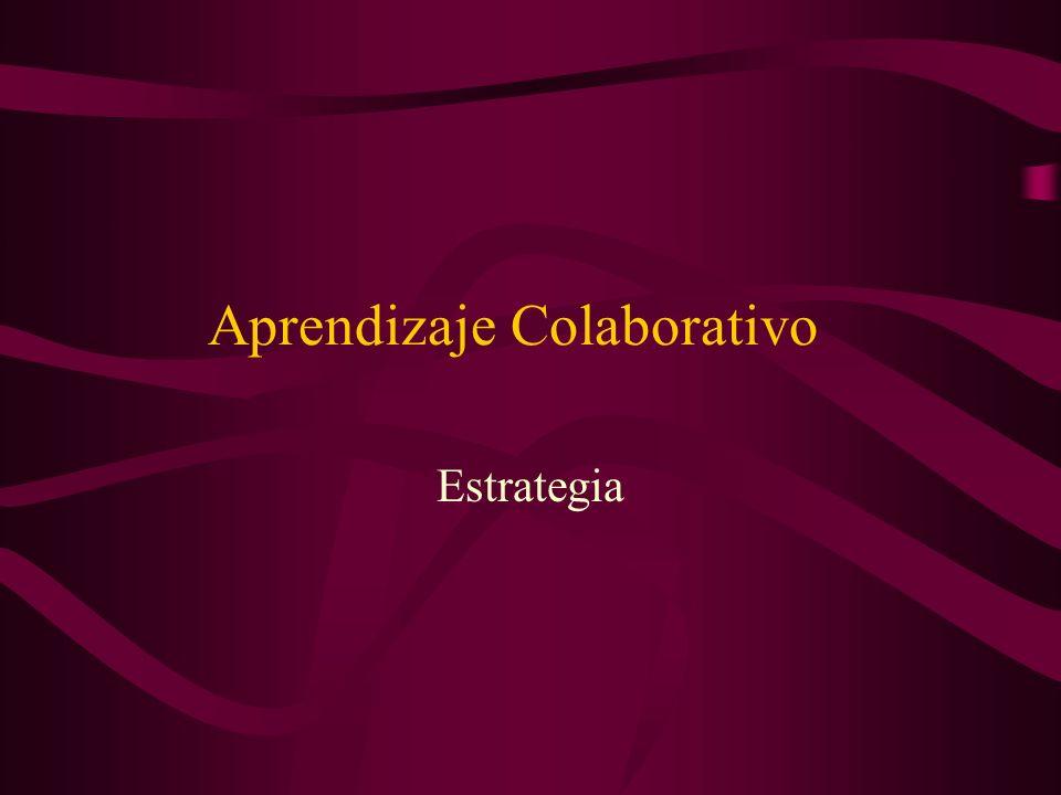 Aprendizaje Colaborativo Estrategia