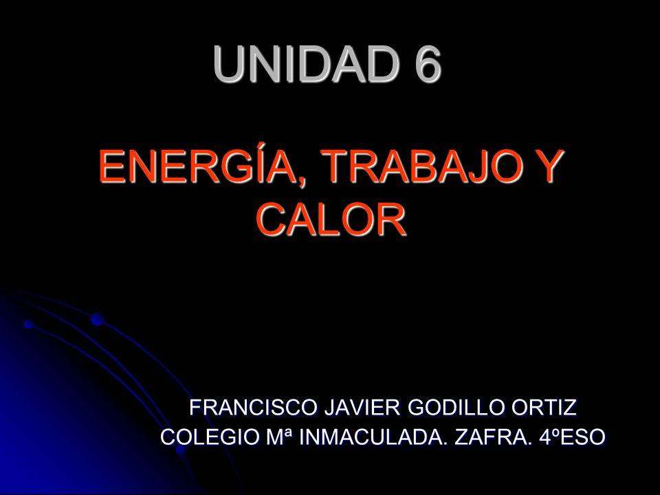 EL CALOR AL IGUAL QUE EL TRABAJO ES ENERGÍA EN TRÁNSITO LO QUE TIENE ES ENERGÍA LOS SISTEMAS QUE ESTÁN CALIENTES NO TIENEN CALOR Y PUEDEN CEDERLA DE UN SISTEMA A OTRO EN FORMA DE CALOR (Q) ENERGÍA, TRABAJO Y CALOR CALOR