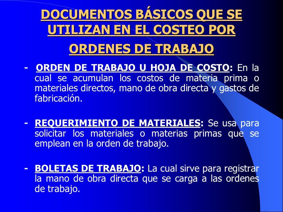 CONTABILIZACIÓN DEL COSTEO POR ORDENES DE TRABAJO CONTABILIZACIÓN DEL COSTEO POR ORDENES DE TRABAJO CONSUMO MATERIALES PRODUCCIÓN EN PROCESO (ORDEN 74) -----MATERIALES UTILIZACIÓN MANO DE OBRA PROD.