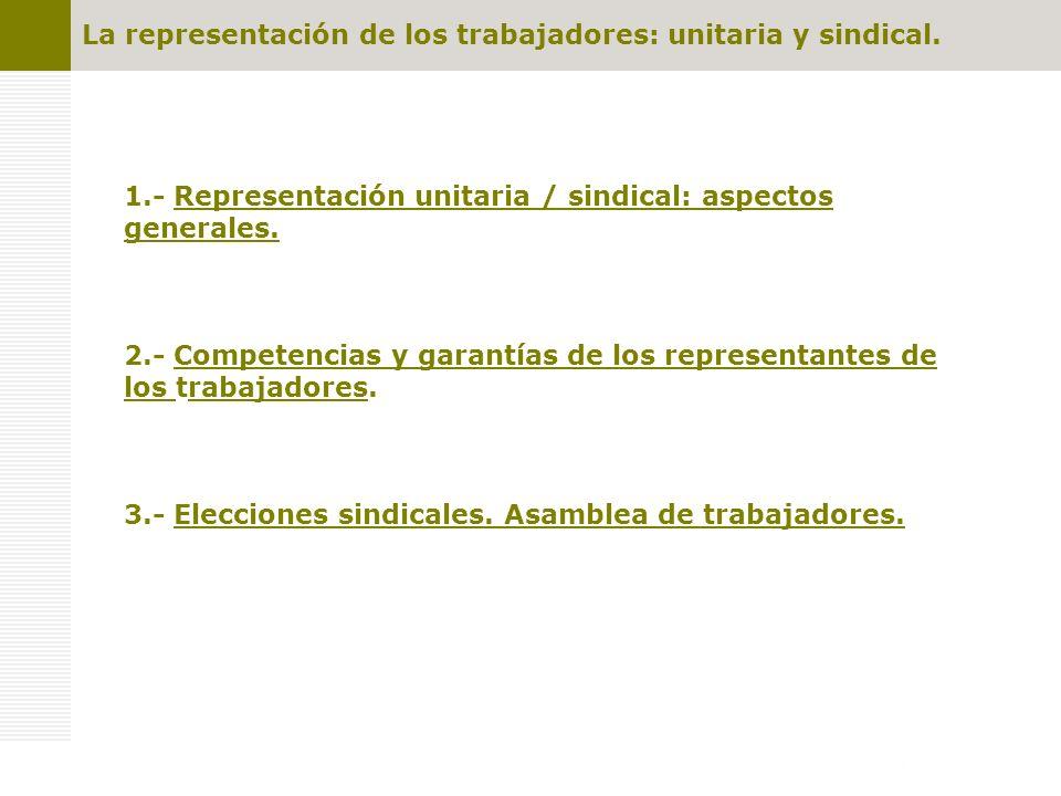 La representación sindical Introducción: el Sindicato y la Libertad Sindical Titularidad Derecho a la Libertad Sindical Art 28.1 CE Trabajadores por cuenta ajena.