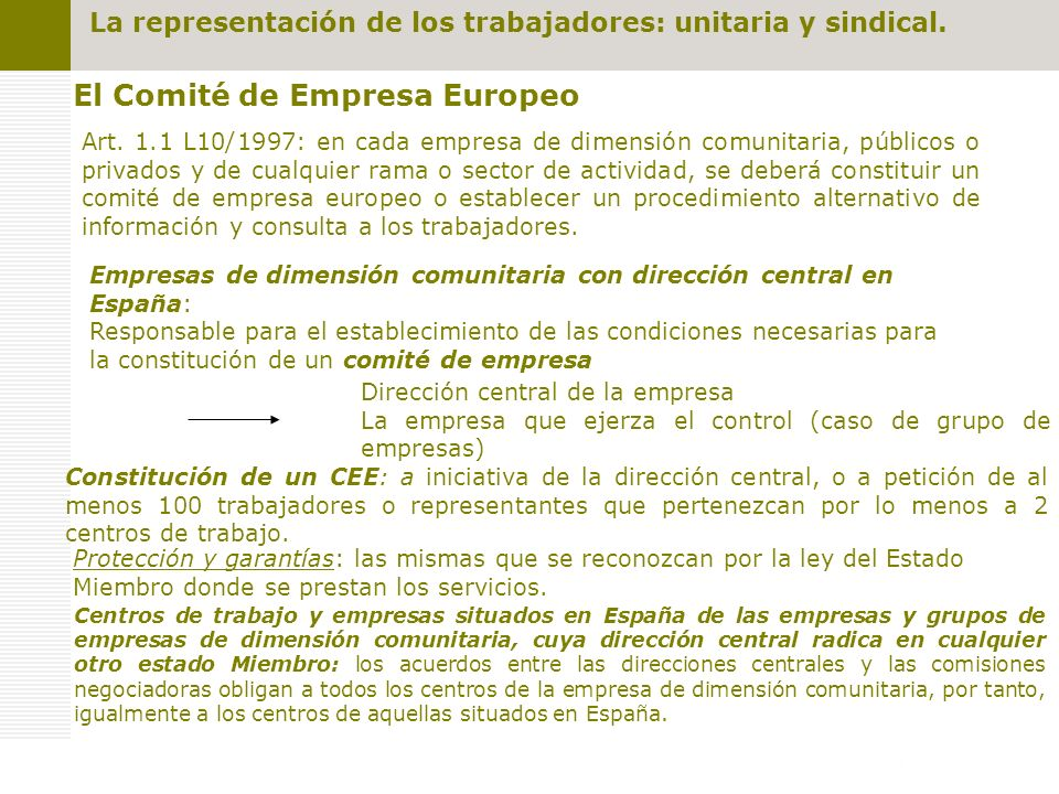 El Comité de Empresa Europeo Art.