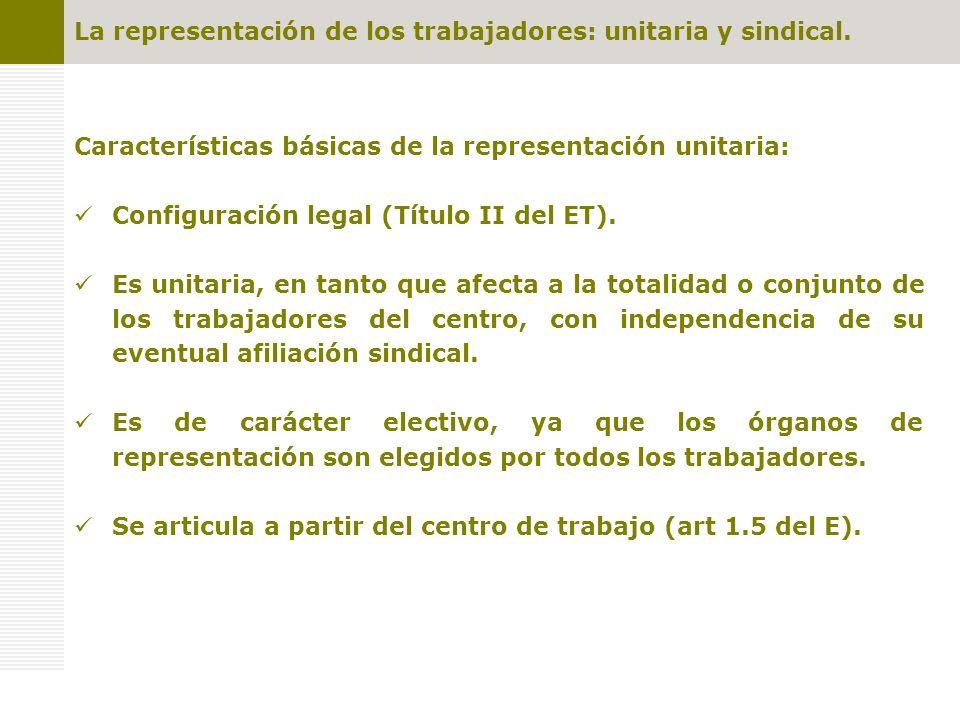 Competencias y garantías de los representantes de los trabajadores Representación unitaria: 1.- Competencias de negociación.