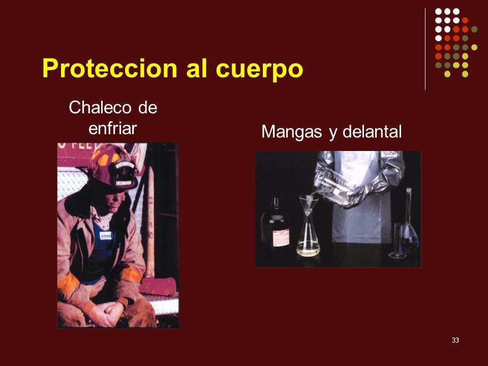 33 Chaleco de enfriar Mangas y delantal Proteccion al cuerpo