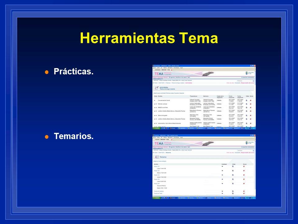 Herramientas Tema l Prácticas. l Temarios.