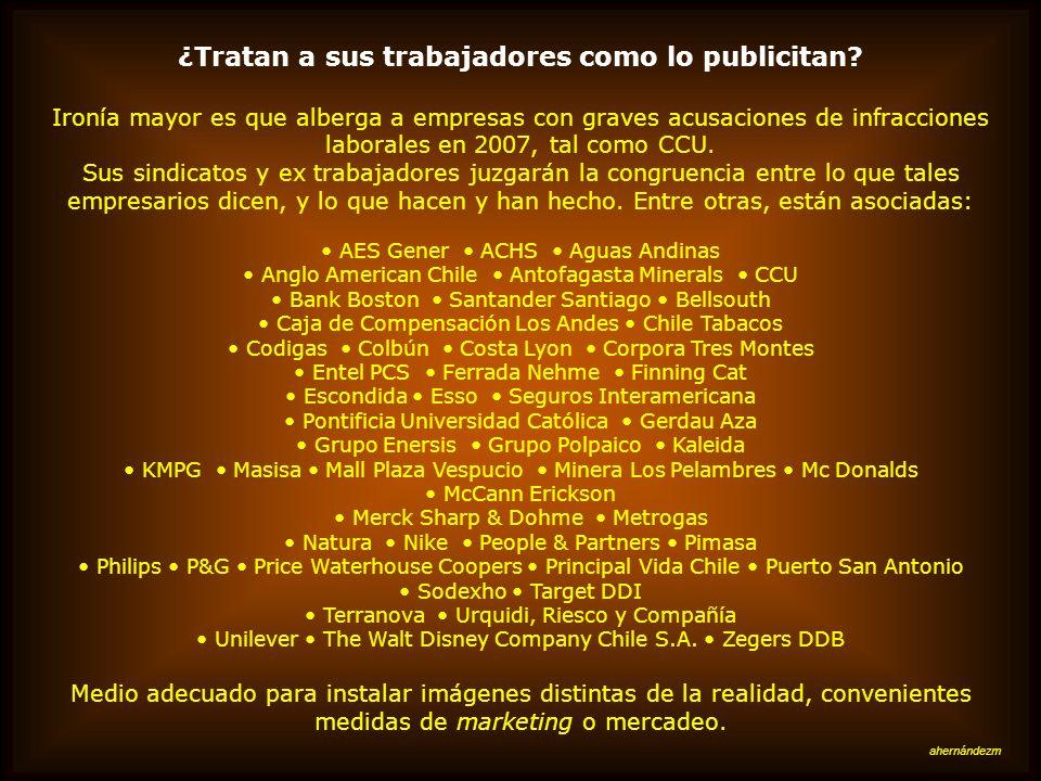 En Chile existen asociaciones patronales sobre el tema El citado documento de la Dirección del Trabajo también anota la existencia de una entidad (pro