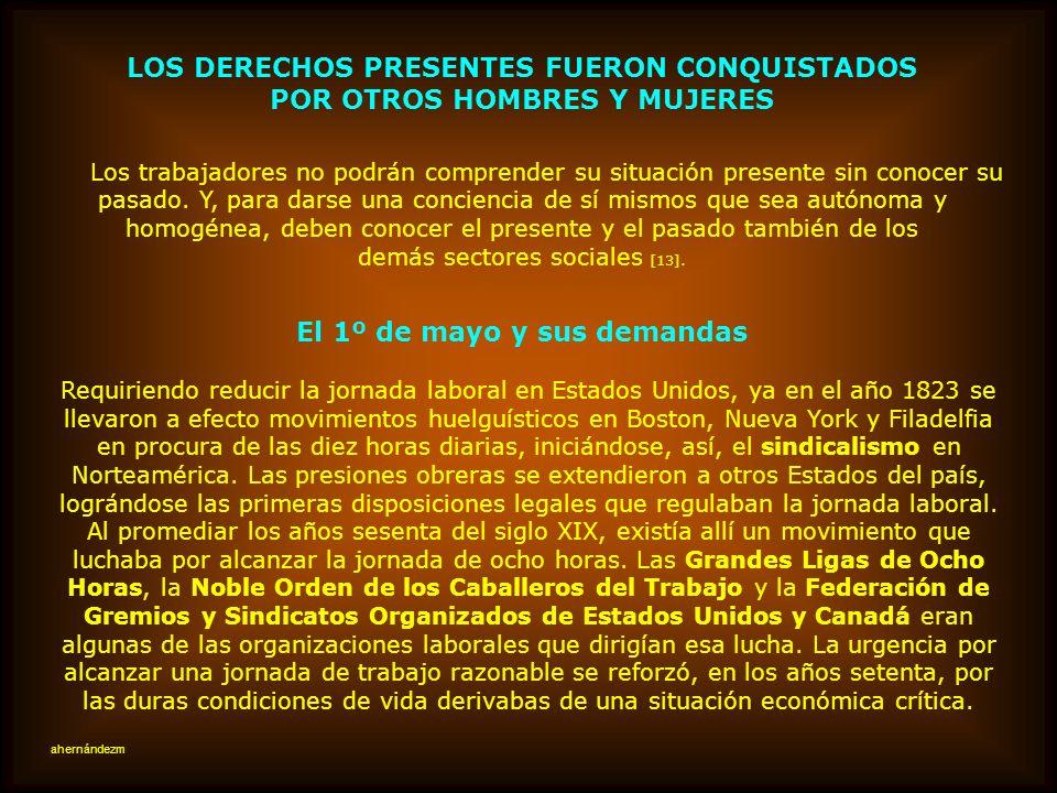 El reconocimiento jurídico de los trabajadores chilenos les ha exigido un esfuerzo consciente Estimaba NOVOA, que las luchas políticas del sector trab