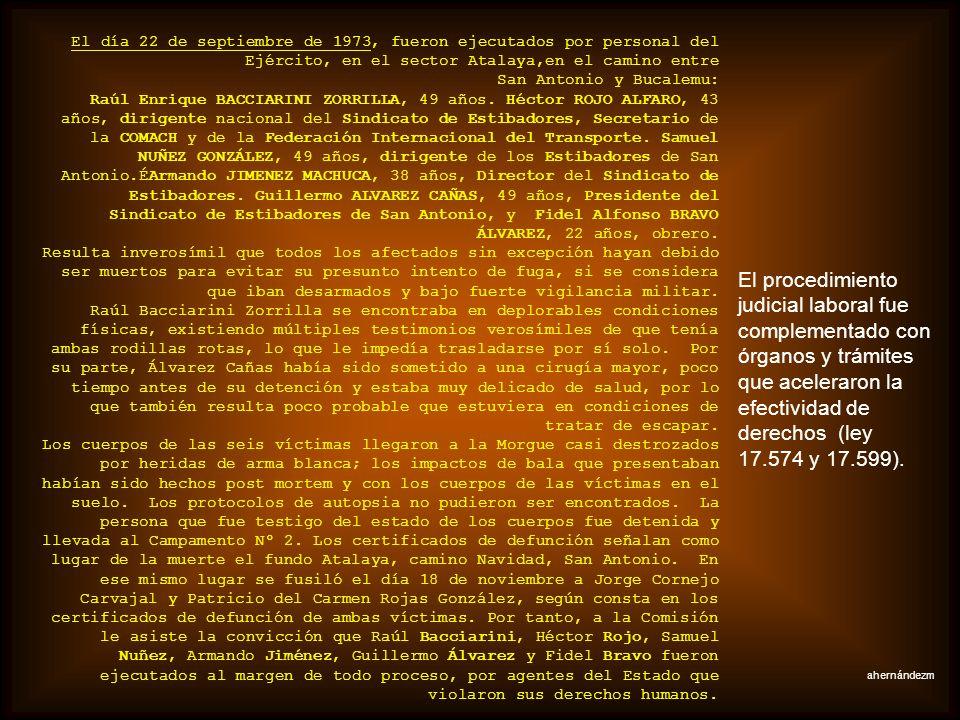 El 10 de octubre de 1973, en horas de la noche, fueron detenidas en el sector de Liquiñe, dentro del Complejo Maderero y Forestal «Panguipulli», dieci