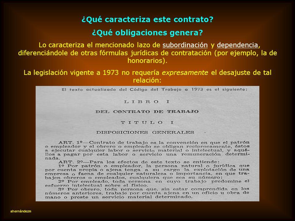 III.- ELEMENTOS Y CONDICIONANTES DEL TRABAJO DIGNO ¿Qué es un contrato de trabajo? ¿Quién es empleador? La ley chilena plantea el contrato individual