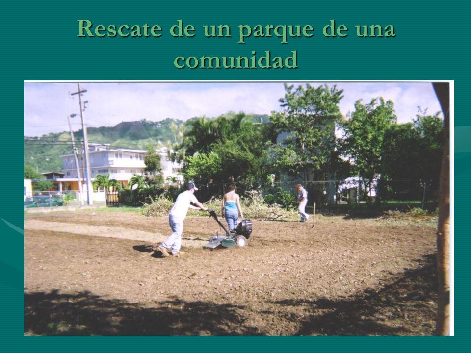 Rescate de un parque de una comunidad