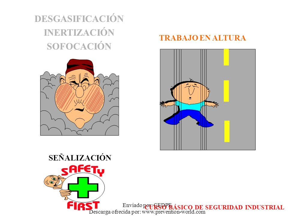 Enviado por: CEDPE Descarga ofrecida por: www.prevention-world.com DESGASIFICACIÓN INERTIZACIÓN SOFOCACIÓN TRABAJO EN ALTURA SEÑALIZACIÓN CURSO BÁSICO