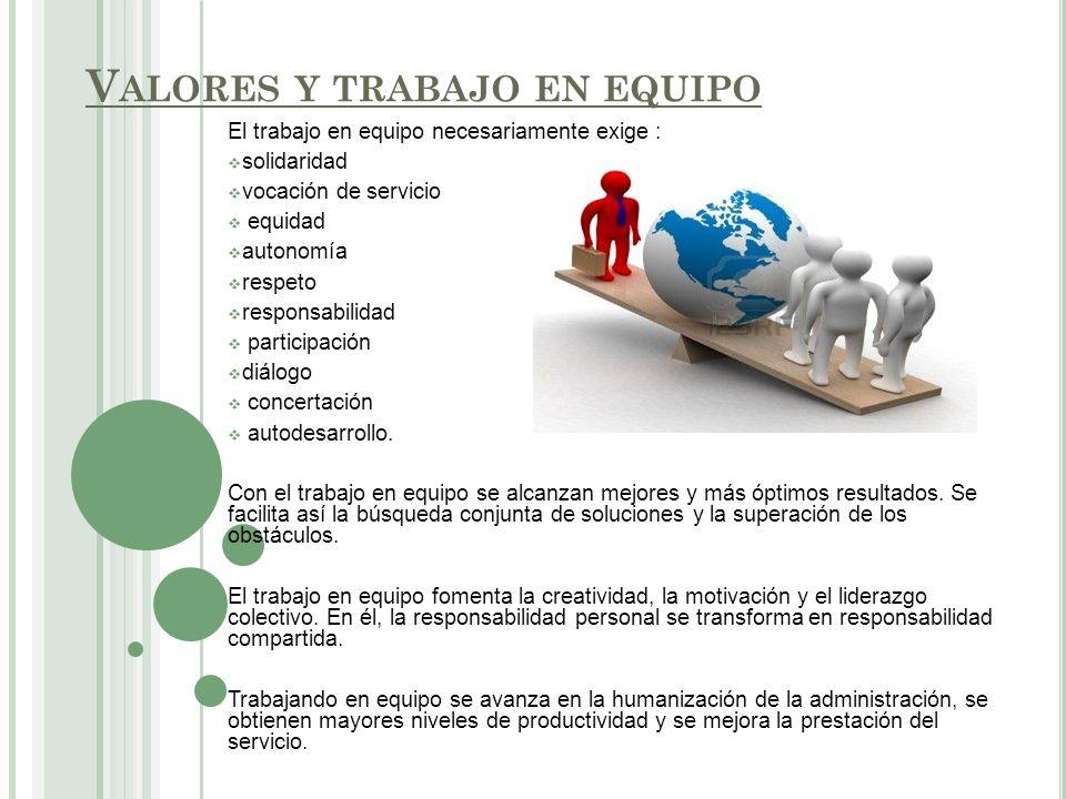 . Para que el trabajo en equipo se convierta en un valor esencial se debe: