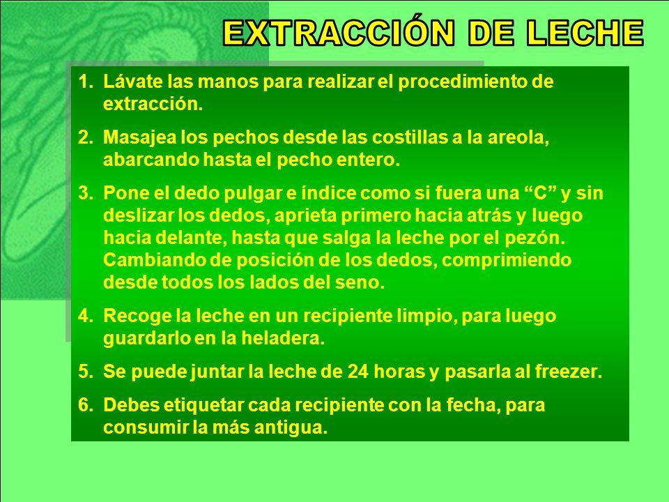 1.Lávate las manos para realizar el procedimiento de extracción.