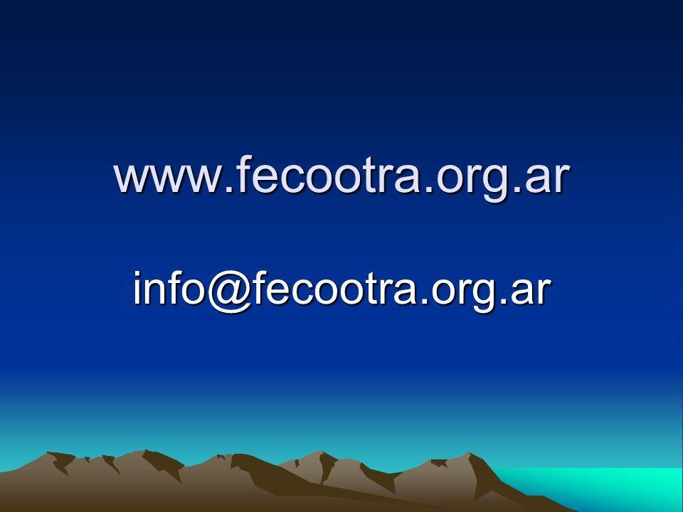 www.fecootra.org.ar info@fecootra.org.ar