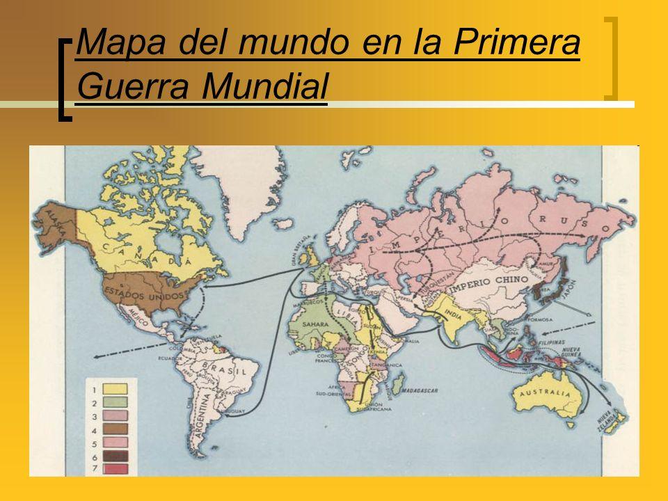 Mapa del mundo en la Primera Guerra Mundial