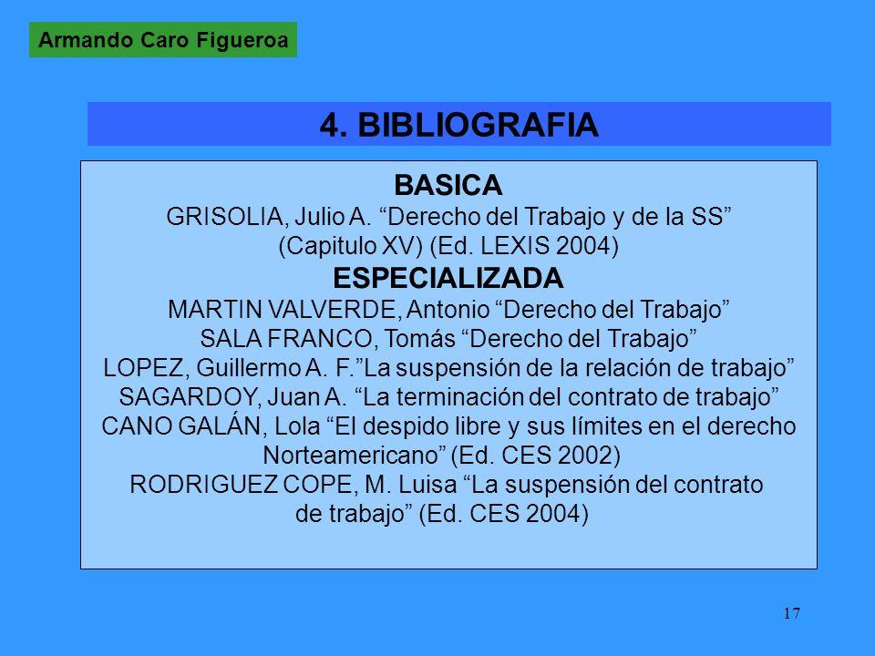 17 BASICA GRISOLIA, Julio A.Derecho del Trabajo y de la SS (Capitulo XV) (Ed.