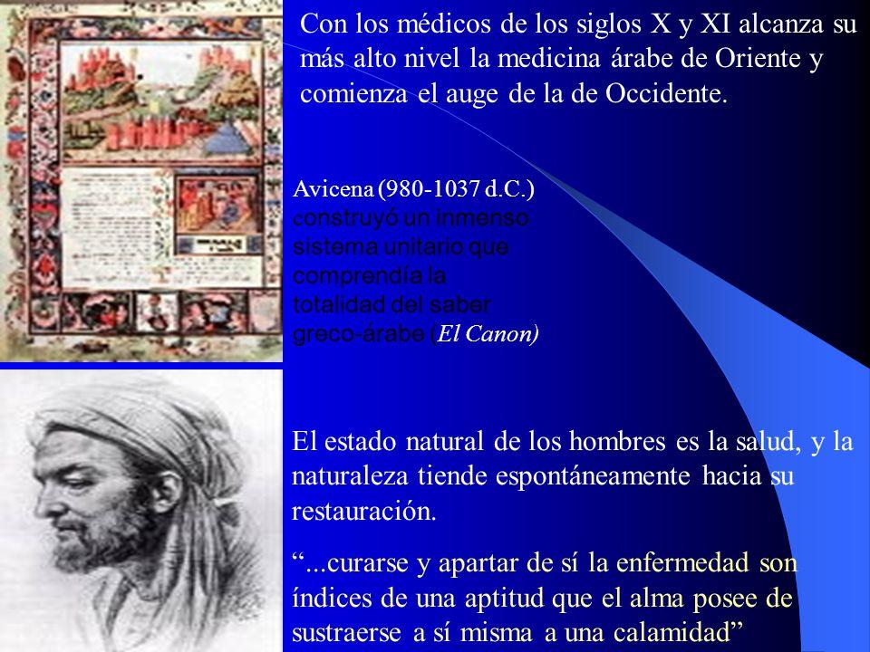 Avicena (980-1037 d.C.) c onstruyó un inmenso sistema unitario que comprendía la totalidad del saber greco-árabe ( El Canon) El estado natural de los