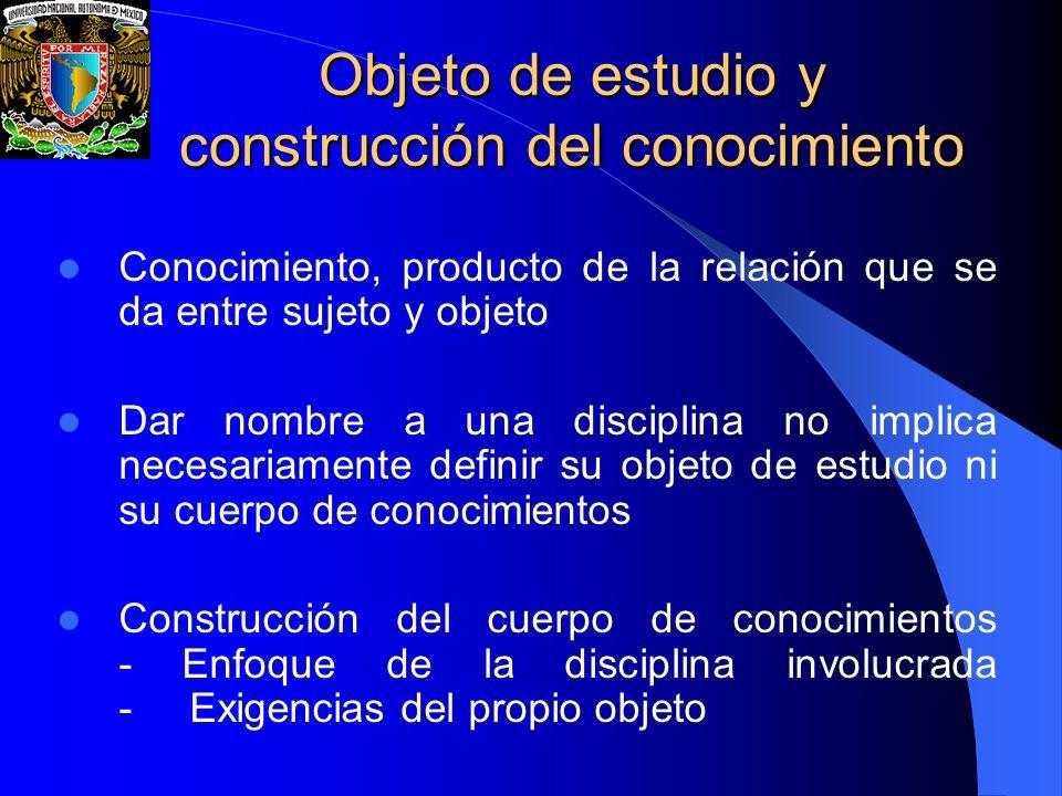 Objeto de estudio y construcción del conocimiento Objeto de estudio y construcción del conocimiento Conocimiento, producto de la relación que se da en