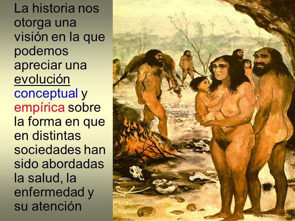 La historia nos otorga una visión en la que podemos apreciar una evolución conceptual y empírica sobre la forma en que en distintas sociedades han sid