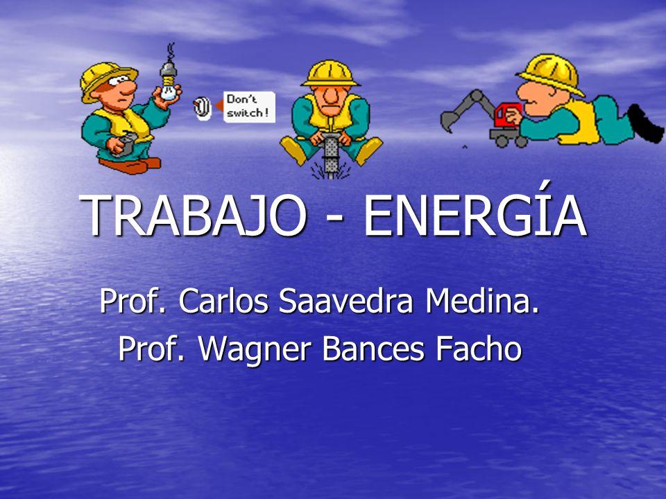 TRABAJO - ENERGÍA Prof. Carlos Saavedra Medina. Prof. Wagner Bances Facho
