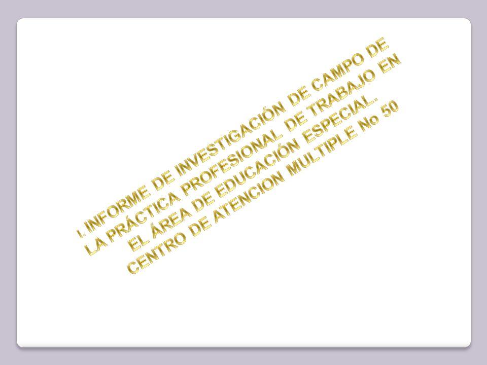 1.DATOS GENERALES DE LA INSTITUCION: 1.1 Antecedentes Históricos del CAM # 50 1.