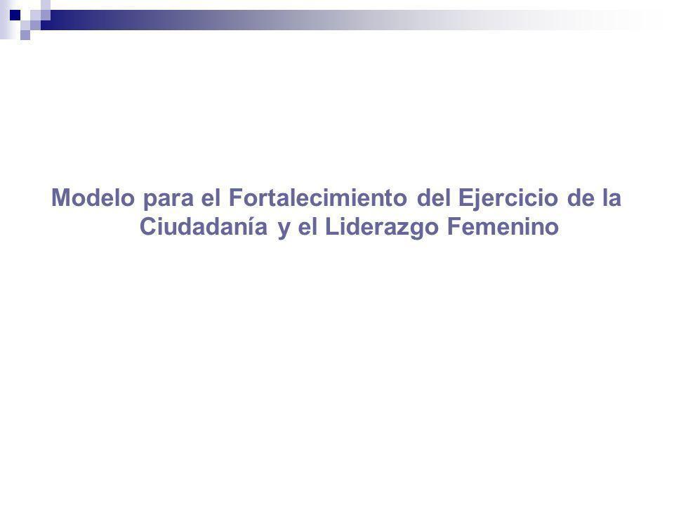 Modelo para el Fortalecimiento del Ejercicio de la Ciudadanía y el Liderazgo Femenino