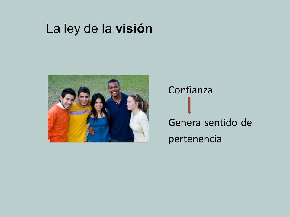 La ley de la visión Confianza Genera sentido de pertenencia