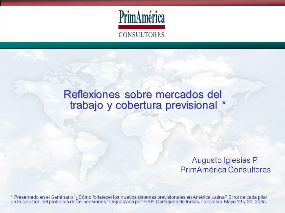 Fuente: Gasparini, 2004. Participación en la PEA por grupo de condición laboral (porcentajes)