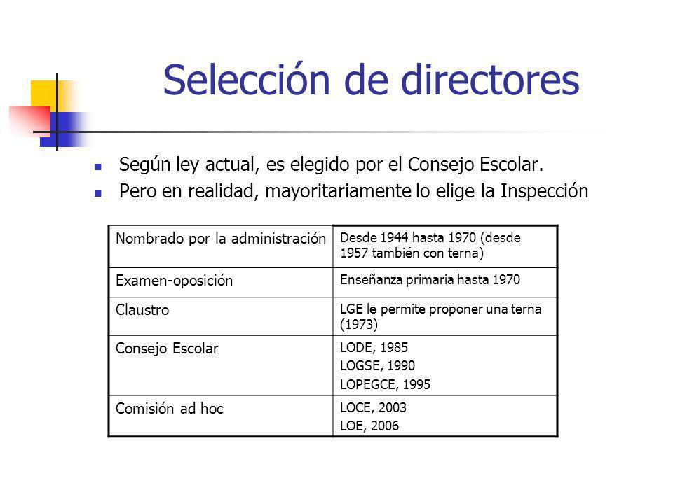 La selección será realizada por una Comisión constituida por representantes de la Administración educativa y del centro correspondiente.