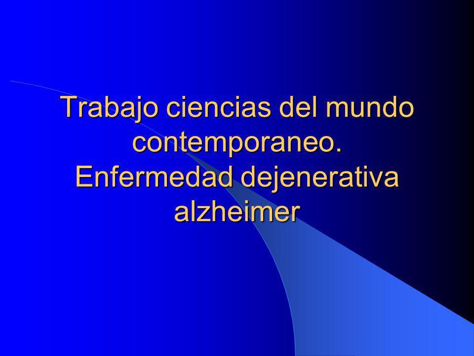 Índice 1.1 El alzhéimer 1.2 Descubrimiento 1.3 Hipótesis 1.4 Como detectar la enfermedad 1.5 Características: signos y evolución de la enfermedad.